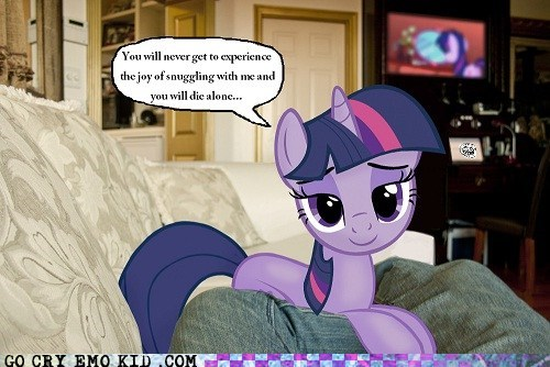 brony cartoons emolulz forever alone MLP FiM twilight sparkle - 5909311232