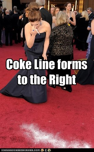 Coke Line forms to the Right _