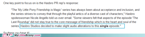 apple Bronies Hasbro IRL iTunes pr response savederpy - 5909960960
