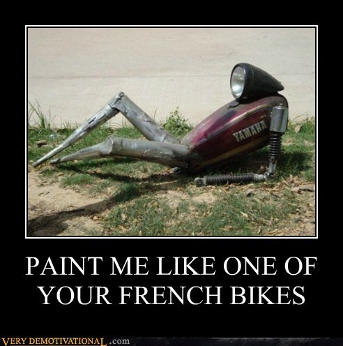 bike,french girl,hilarious,robot,wtf