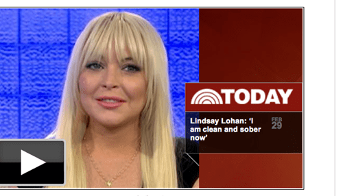lindsay lohan matt lauer today TV - 5910550784