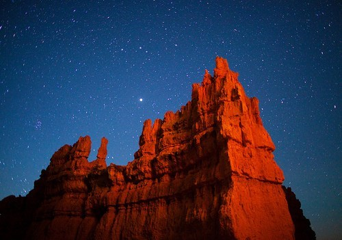 amazing,american southwest,getaways,night,night photography,orange,stars,unknown location