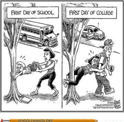first day of college first day of school letting go separation anxiety - 5911452416