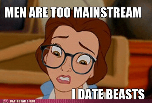 Beauty and the Beast,disney,hipster belle,i date beasts,too hipster,too mainstream