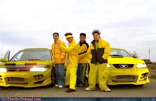 asian cars hedgehog spiked hair yellow - 5911521280