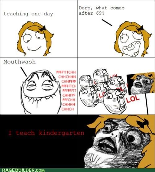 kindergarten Rage Comics that sounds naughty truancy story - 5911554816
