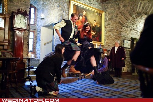 funny wedding photos,kilts,scotland,scottish