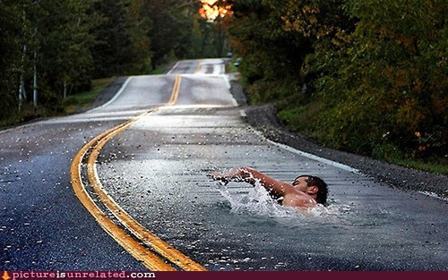 photoshop,road,swimming,wtf
