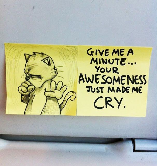 motivational cats post it notes