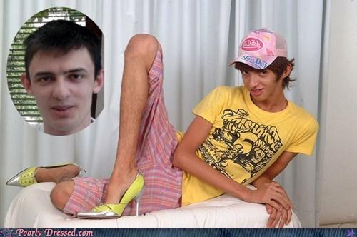 guy in heels heels skeleton yearbook - 5911842816