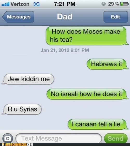 dad,hebrew,jew,jewish,parenting,pun,puns
