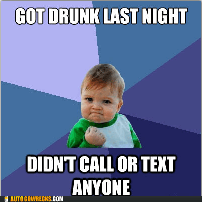 drinking drunk text last night meme success success kid