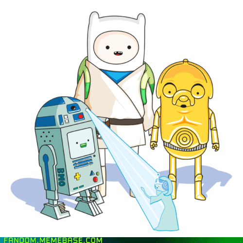adventure time cartoons crossover Fan Art movies scifi star wars - 5912053504