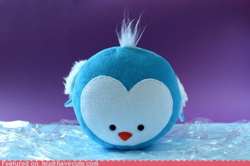 blue penguin Plush round stuffed - 5912194816
