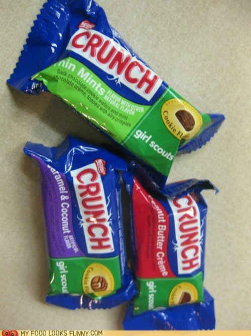 best of the week,chocolate,crunch,girl scout cookies,nestle