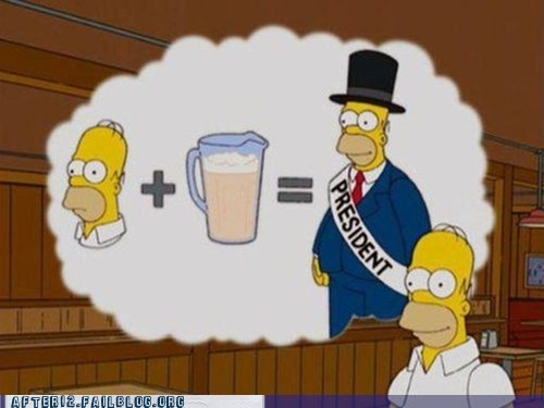 beer cartoons homer politics screencap simpsons true facts - 5912210432