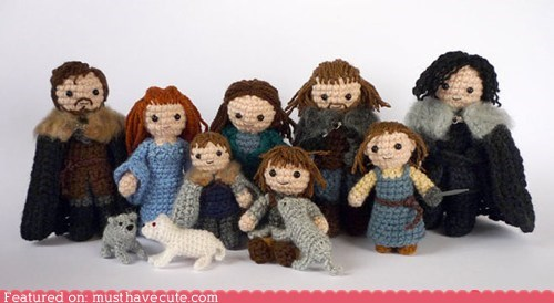 Amigurumi,best of the week,charaters,chrocheted,family,Game of Thrones,starks