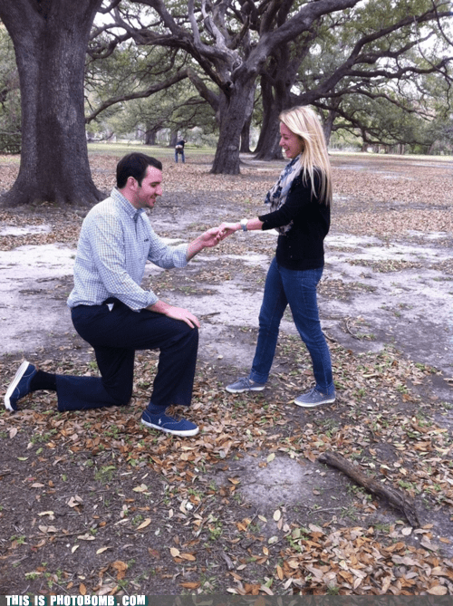 awesome engagement mooning proposal ruined