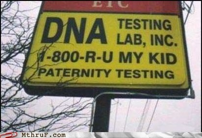 business drive through g rated monday thru friday paternity sign - 5912326144