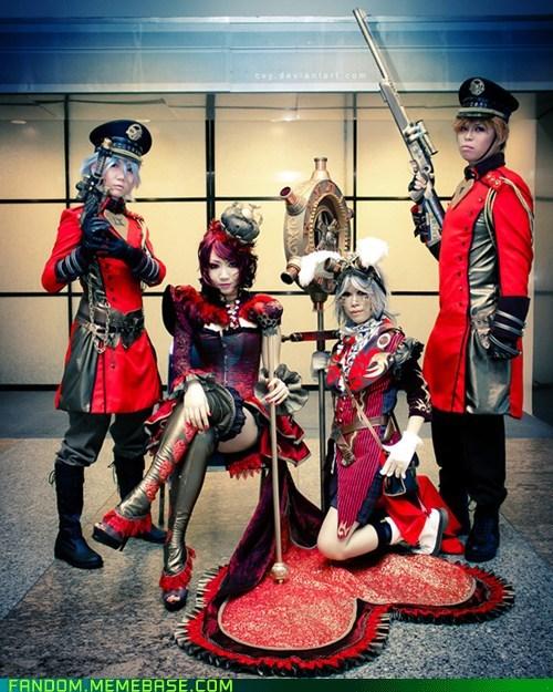 alice in wonderland cosplay queen of hearts - 5912350976