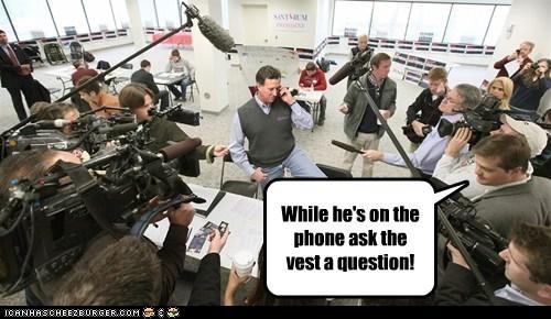political pictures Republicans Rick Santorum vests