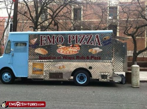 emo engrish pizza van