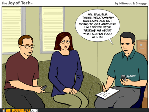 comic,covert texting,therapy