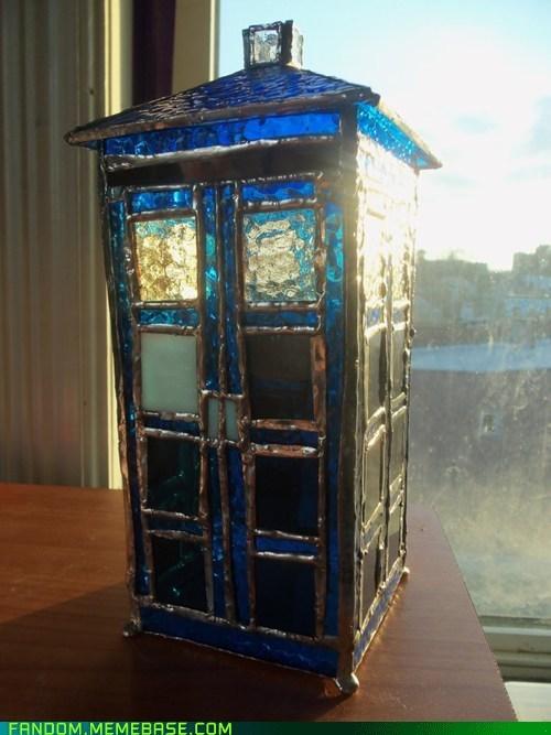 doctor who Fan Art glass tardis - 5912807168