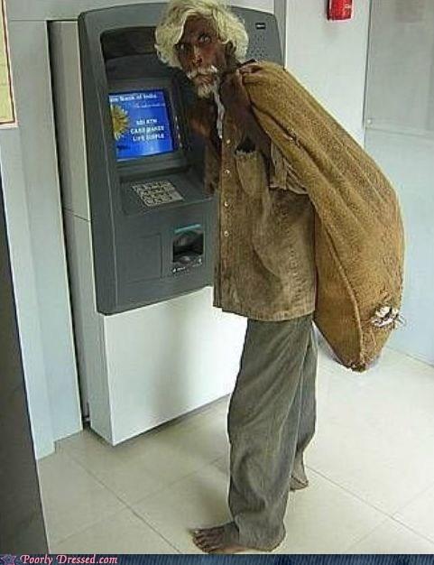 ATM,col-sanders,colonel sanders,india,kfc