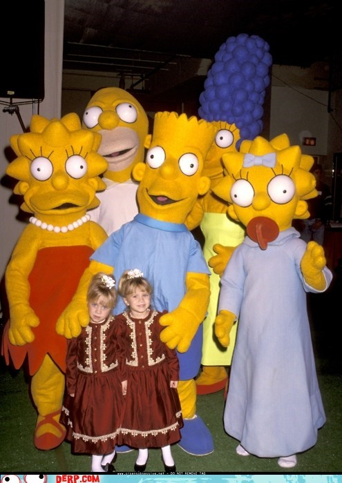 costume derp Olsen twins simpsons - 5913079040