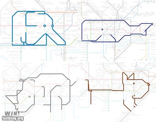 animals clever design map Subway - 5913085696