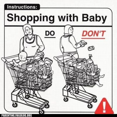 baby food groceries grocery store shopping cart - 5913538816