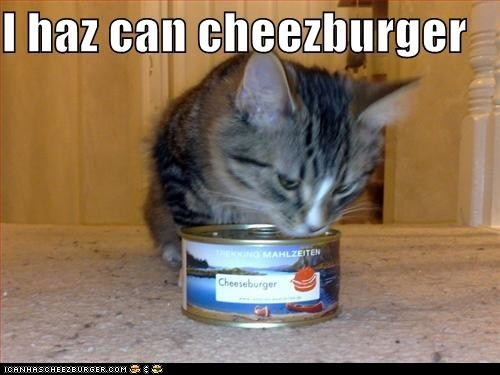 can canned cheeseburger classics has i can has noms pun - 5913627392