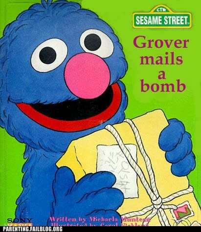 bomb,grover,Sesame Street