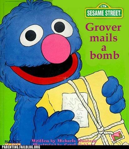 bomb grover Sesame Street - 5914587648