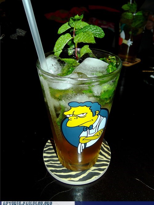 clever,cocktail,moe,mojito,simpsons