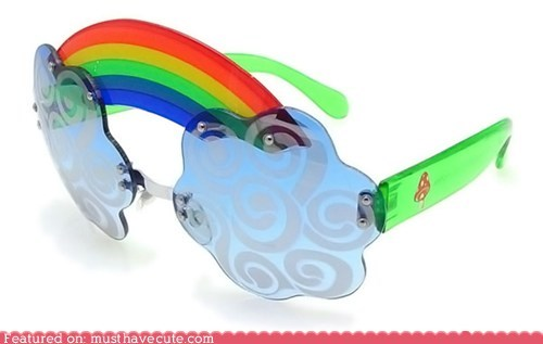 accessories clouds glasses rainbow sunglasses - 5915036672