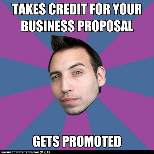 One-upmanship Mark: gets promoted.