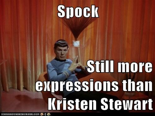 expressions illogical kristen stewart Leonard Nimoy Spock Star Trek Vulcan - 5915494912