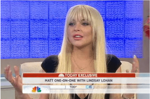 lindsay lohan,matt lauer,today,TV