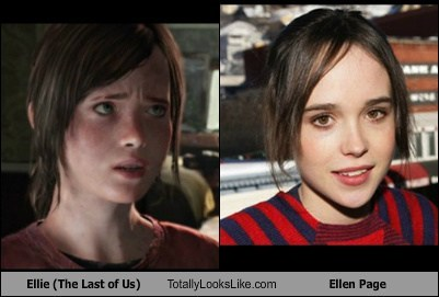 actor celeb ellen page ellie funny last of us TLL