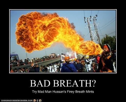 BAD BREATH? Try Mad Man Hussan's Firey Breath Mints