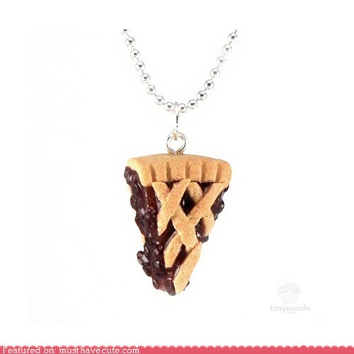 accessories blueberry chain Jewelry necklace pendant pie scented - 5915940352