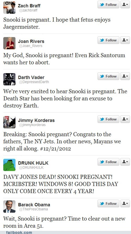celeb,failbook,Featured Fail,pregnant,snooki,twitter