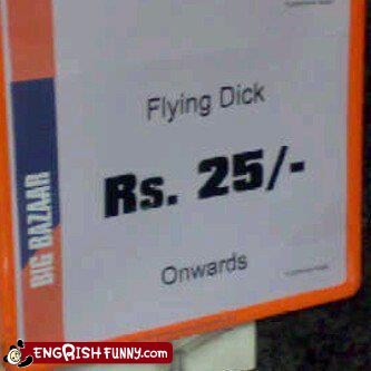 bazaar engrish flying india price tag rupees