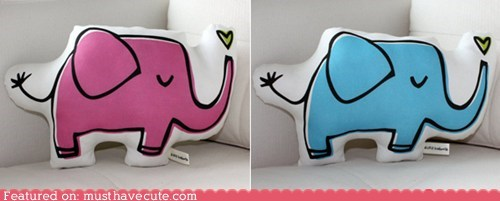 elephant,heart,Pillow,Plush,print