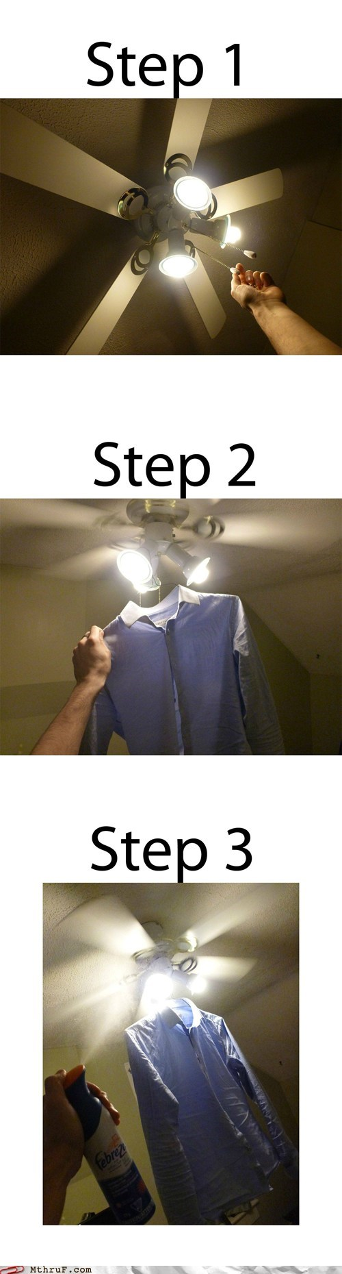 ceiling fan,febreeze,fresh,shirt