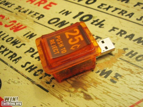 arcade nerdgasm office swag pinball thumb drive USB
