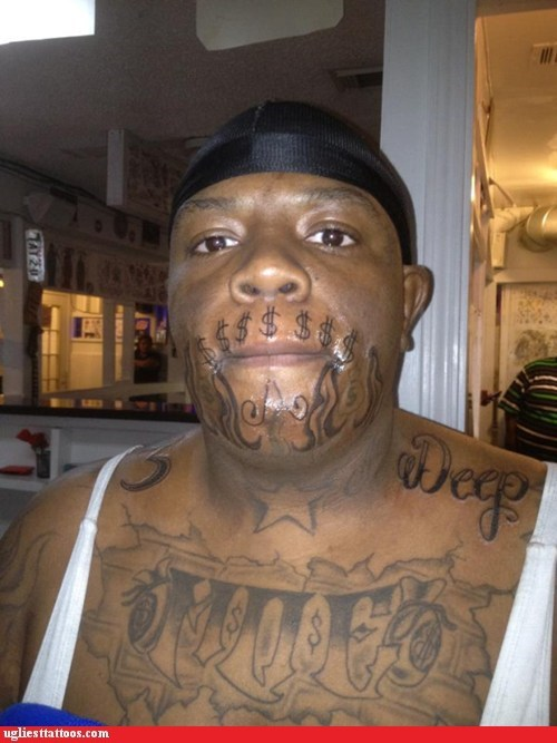 face tattoos get cash get money Hall of Fame moe - 5916604672
