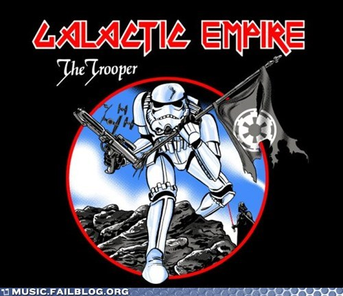 Fan Art iron maiden star wars the soldier